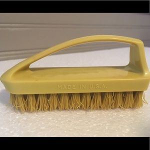 Made In U.S.A. Small Vintage Plastic Scrub Brush